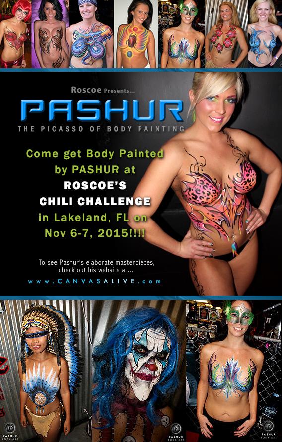 Pashur bodypaint at Roscoe's Chili Challenge